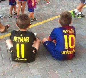Neymar e Messi: e se seu filho for Barça?